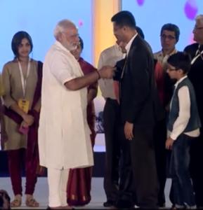 Prasanna Kakunje with Hon'ble PM Modi